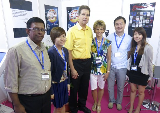 Entertainment Technology Asia staff with Pat and Brenda