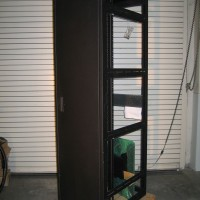 44U Equipment Rack--Black with Front Door